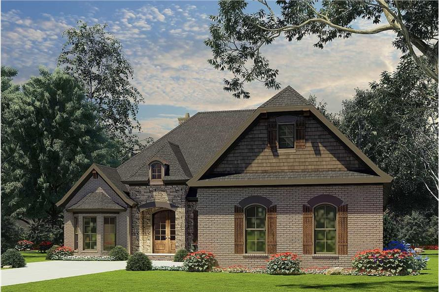 Front View of this 3-Bedroom,2147 Sq Ft Plan -153-1946