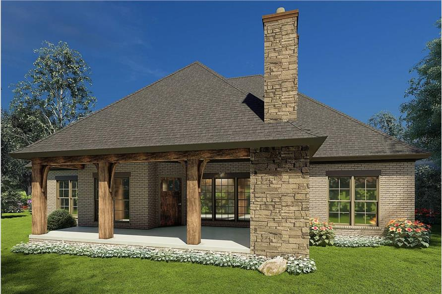 Rear View of this 3-Bedroom,2147 Sq Ft Plan -153-1946