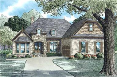 3-Bedroom, 2147 Sq Ft European House Plan - 153-1946 - Front Exterior
