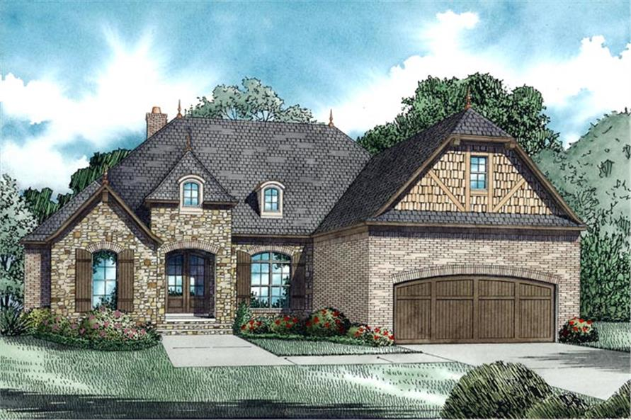 3-Bedroom, 2070 Sq Ft European House Plan - 153-1949 - Front Exterior