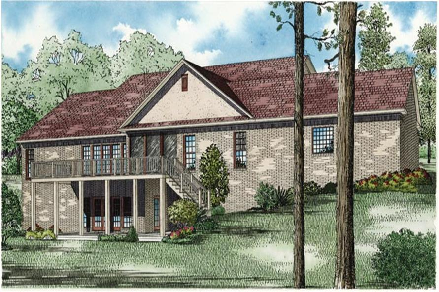 153-1950: Home Plan Rendering