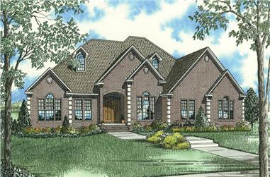 3-Bedroom, 3050 Sq Ft Ranch House Plan - 153-1953 - Front Exterior