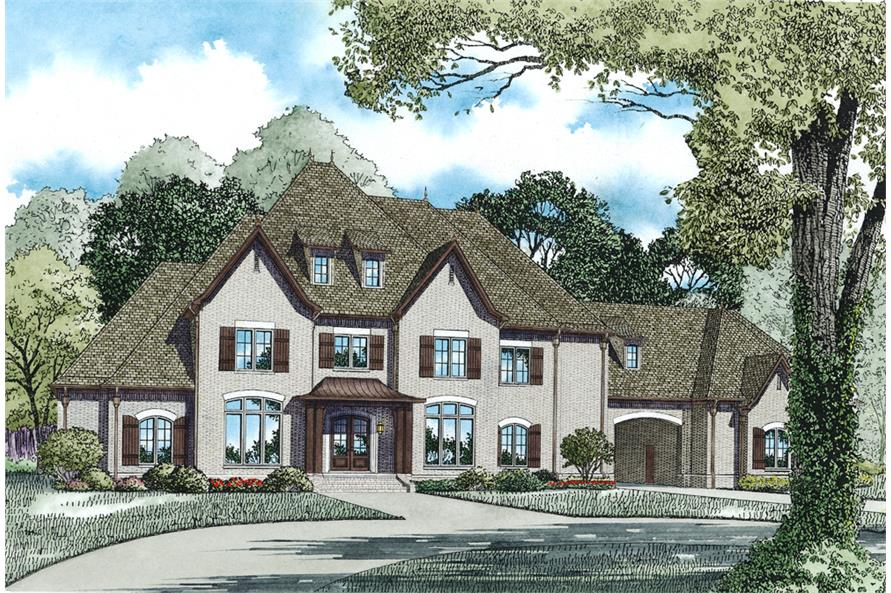 4-Bedroom, 6674 Sq Ft Luxury House Plan - 153-1975 - Front Exterior