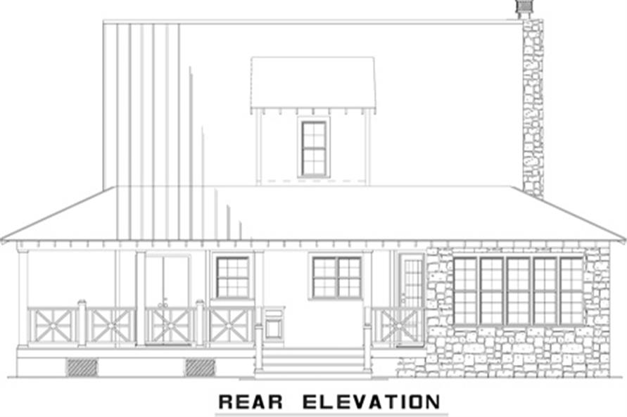 Home Plan Rear Elevation of this 3-Bedroom,1792 Sq Ft Plan -153-1976