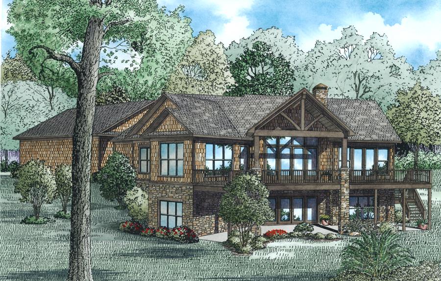 House Plan #153-1977: 4 Bdrm, 3,140 Sq Ft Craftsman Home