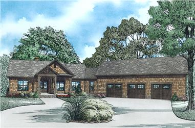 4-Bedroom, 3140 Sq Ft Craftsman House Plan - 153-1977 - Front Exterior