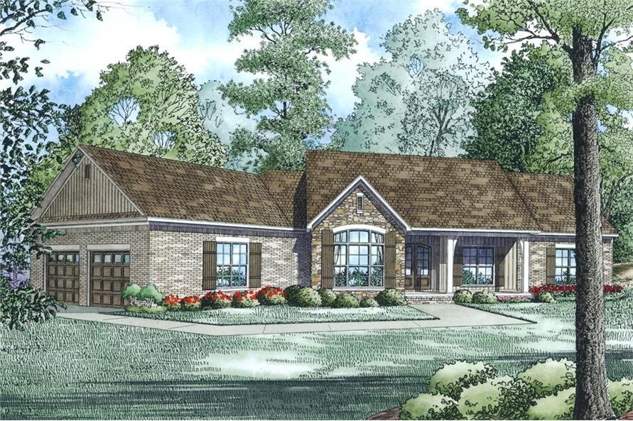 4-Bedroom, 2279 Sq Ft Ranch Home Plan - 153-1979 - Main Exterior