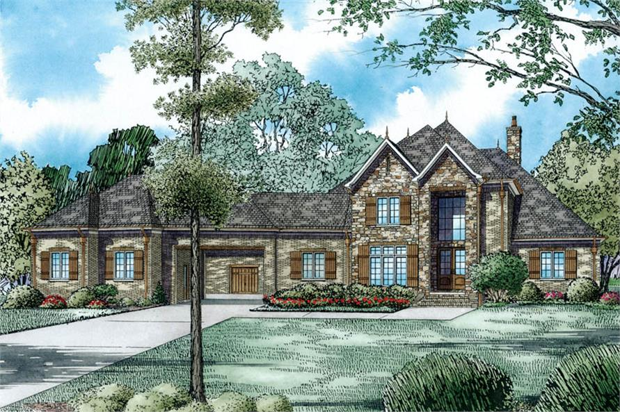 153 1980 front elevation of this luxury house 153 1980 at the plan collection