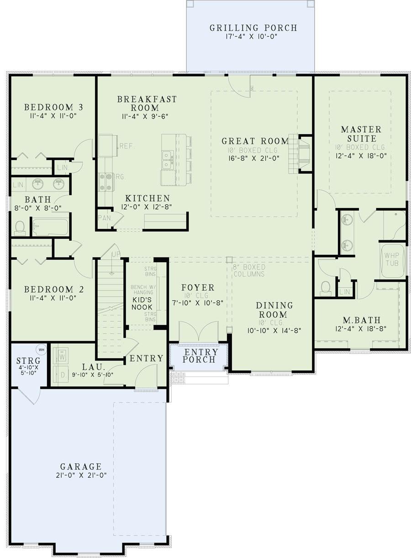 Ranch House Plan 3 Bedrms 2 Baths 2131 Sq Ft 153 1981