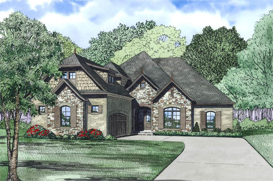 3-Bedroom, 2131 Sq Ft Ranch House Plan - 153-1981 - Front Exterior