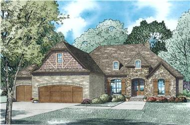 4-Bedroom, 2413 Sq Ft European Home Plan - 153-1984 - Main Exterior
