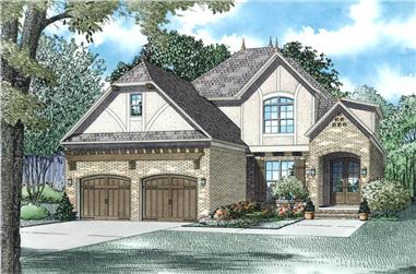 4-Bedroom, 2454 Sq Ft European Home Plan - 153-1985 - Main Exterior