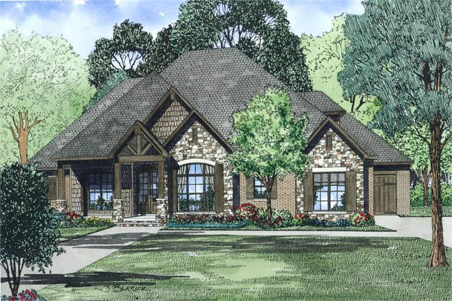 Front View of this 4-Bedroom,2340 Sq Ft Plan -2340
