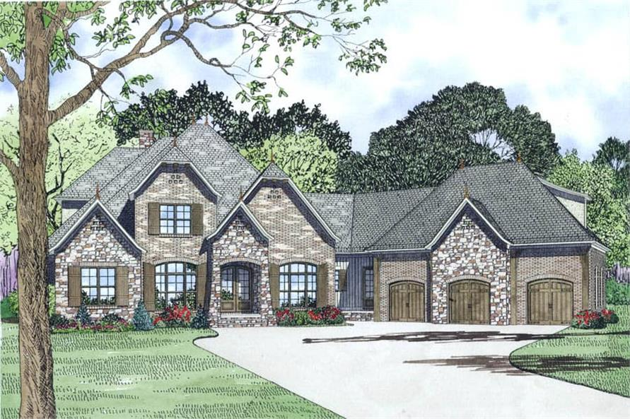 Front View of this 4-Bedroom,3752 Sq Ft Plan -153-1989