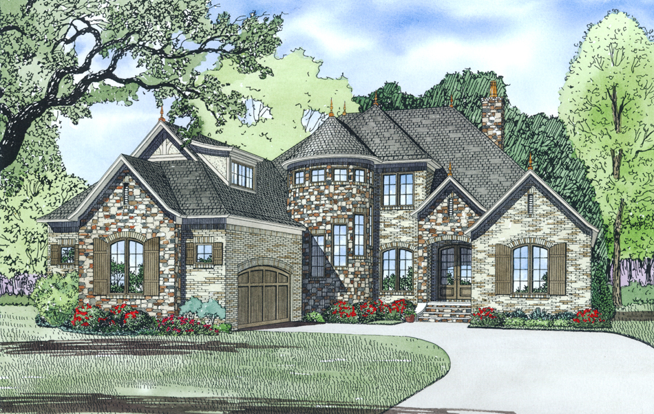 House Plan 153 1990 4 Bdrm 3 083 Sq Ft Luxury French