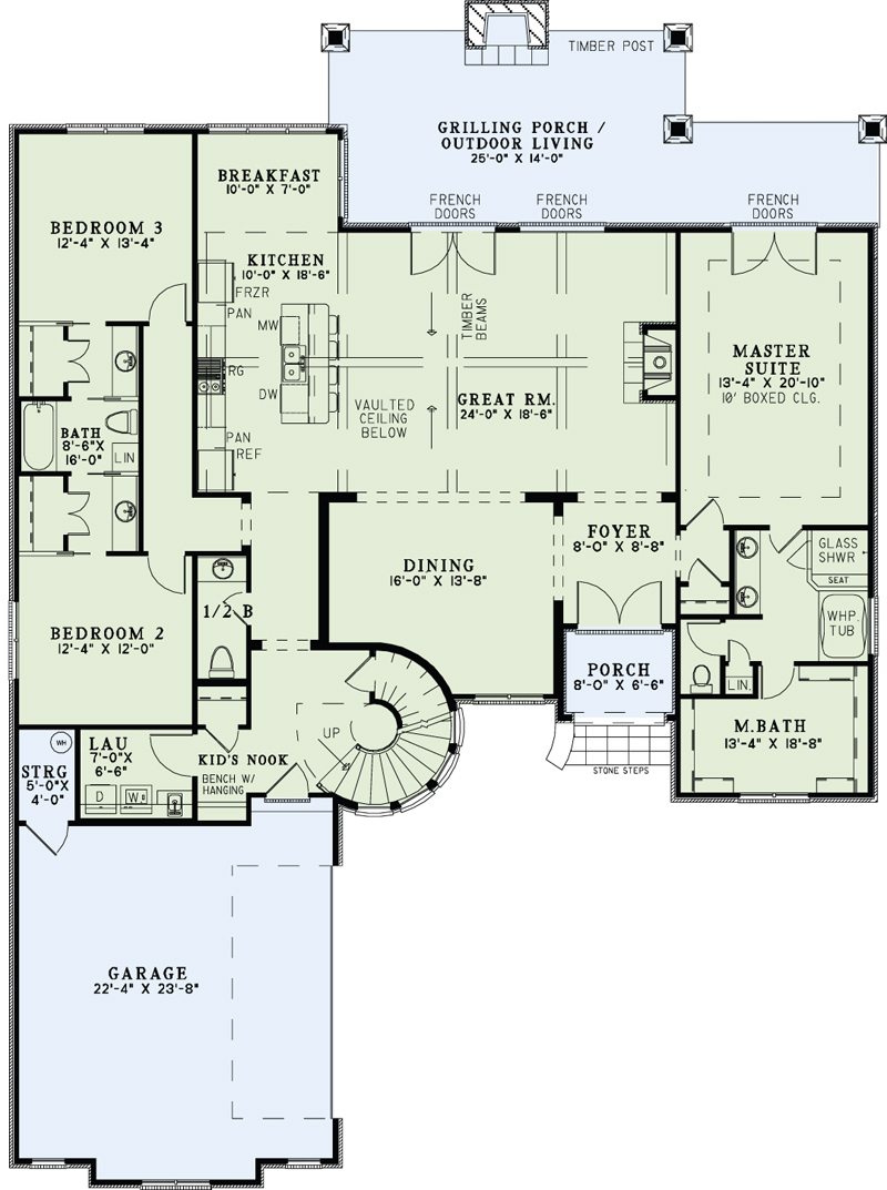 Plan 153 1990 4 Bdrm 3 084 Sq Ft Luxury French Home