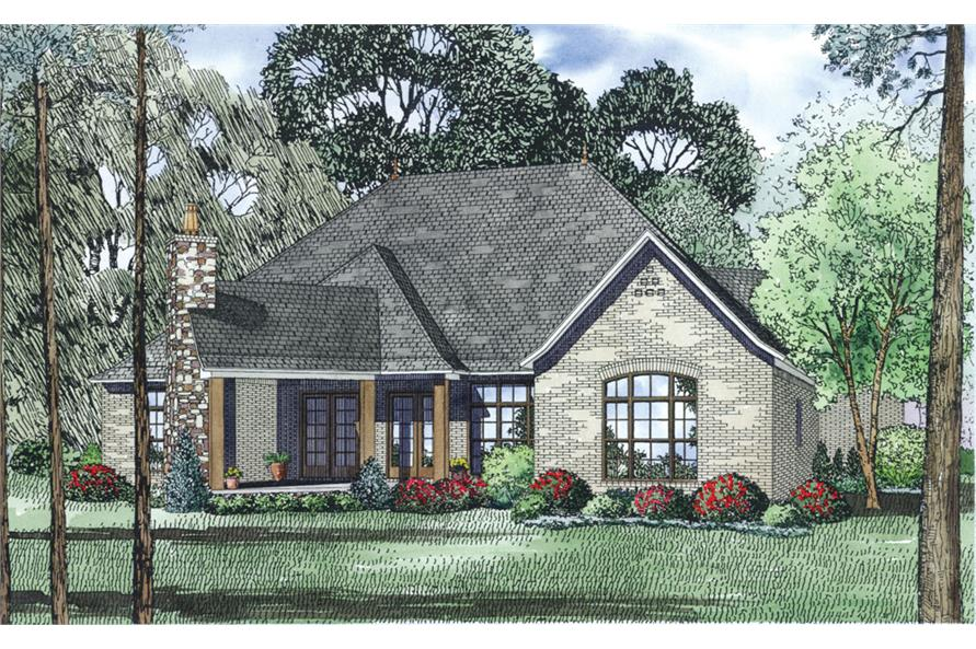Home Plan Rear Elevation of this 3-Bedroom,2408 Sq Ft Plan -153-1992