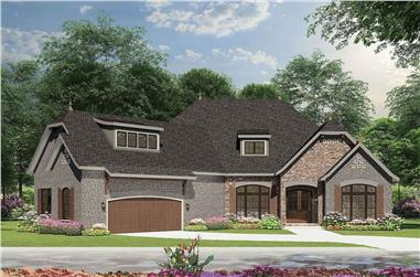 3-Bedroom, 2408 Sq Ft French Home Plan - 153-1992 - Main Exterior