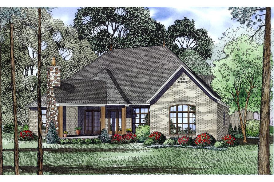 153-1993: Home Plan Rear Elevation