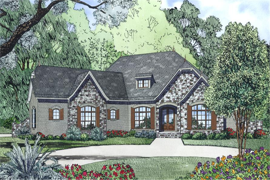 4-Bedroom, 2617 Sq Ft French House Plan - 153-1996 - Front Exterior