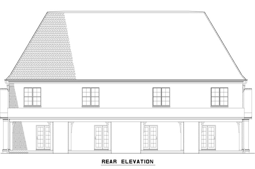 Home Plan Rear Elevation of this 2-Bedroom,1510 Sq Ft Plan -153-1997