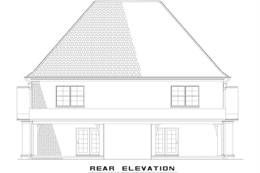 Home Plan Rear Elevation of this 2-Bedroom,1510 Sq Ft Plan -153-1998