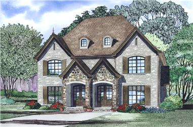2-Bedroom, 1510 Sq Ft Multi-Unit House Plan - 153-1998 - Front Exterior