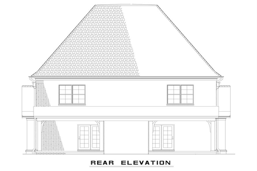 Home Plan Rear Elevation of this 2-Bedroom,1602 Sq Ft Plan -153-1999