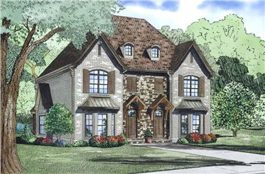 2-Bedroom, 1602 Sq Ft Multi-Unit House Plan - 153-1999 - Front Exterior