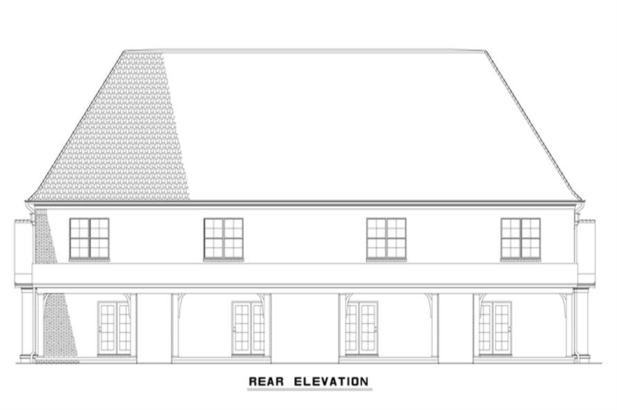 Home Plan Rear Elevation of this 2-Bedroom,1602 Sq Ft Plan -153-2000