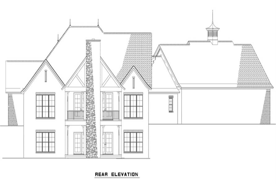 153-2003: Home Plan Rear Elevation
