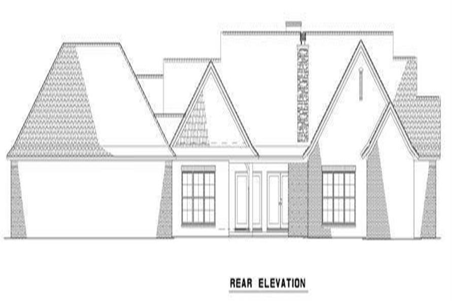 Home Plan Rear Elevation of this 3-Bedroom,2118 Sq Ft Plan -153-2004