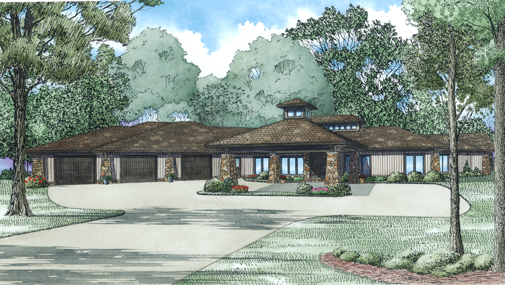 Ranch House Plans With Porte Cochere