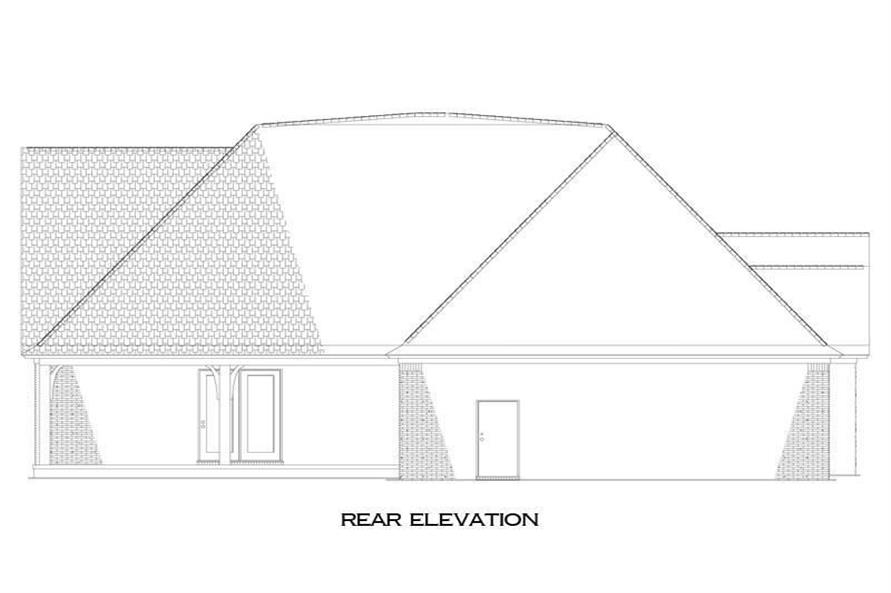 Home Plan Rear Elevation of this 3-Bedroom,2498 Sq Ft Plan -153-2009