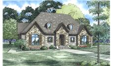 Front Elevation of this Ranch House (#153-2009) at The Plan Collection.