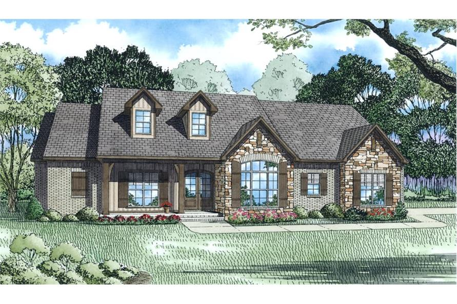 Home Plan Rendering of this 3-Bedroom,2401 Sq Ft Plan -153-2013