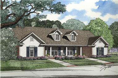 Front Elevation of this Multi-Unit House (#153-2014) at The Plan Collection.