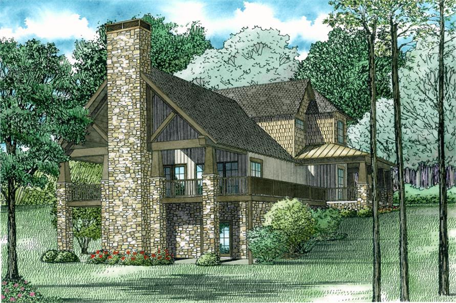 153 2015 153 2015 home plan rear elevation - Craftsman Home 2015