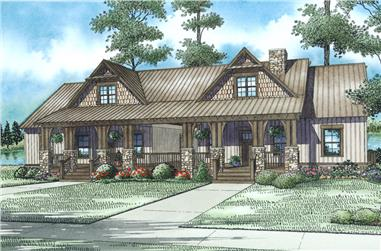 6-Bedroom, 2758 Sq Ft Multi-Unit House Plan - 153-2016 - Front Exterior