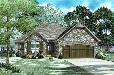 4-Bedroom, 1975 Sq Ft Ranch House Plan - 153-2020 - Front Exterior