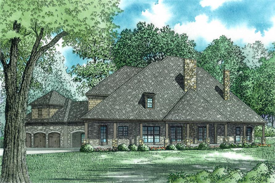 153-2022: Home Plan Rear Elevation