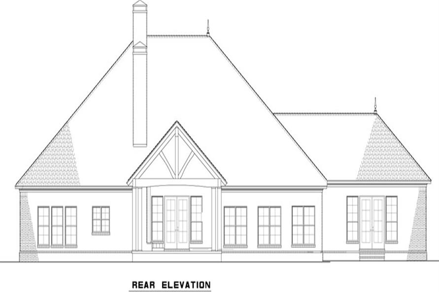 153-2023: Home Plan Rear Elevation