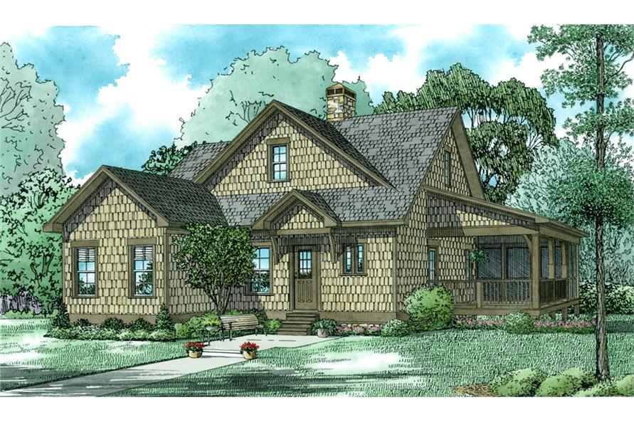 3-Bedroom, 1560 Sq Ft Farmhouse Home Plan - 153-2024 - Main Exterior