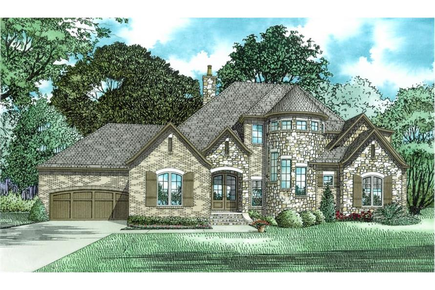 Front View of this 4-Bedroom,2968 Sq Ft Plan -2968