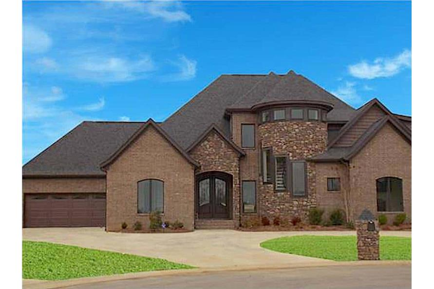 4-Bedroom, 2968 Sq Ft European Home - Plan #153-2025 - Main Exterior