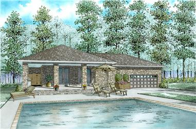 1-Bedroom, 1199 Sq Ft Cottage House - Plan #153-2027 - Front Exterior