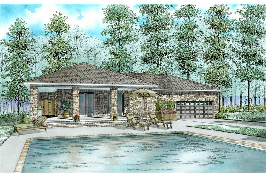 1-Bedroom, 1128 Sq Ft Cottage House Plan - 153-2027 - Front Exterior