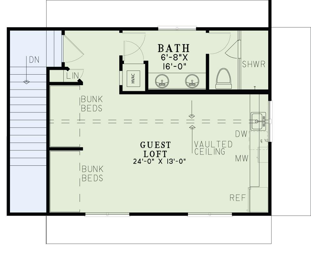 House Plan 153 2029 1 Bdrm 509 Sq Ft Garage W