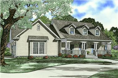 4-Bedroom, 2430 Sq Ft Farmhouse Home Plan - 153-2031 - Main Exterior