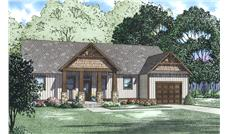 Front elevation of Country home (ThePlanCollection: House Plan #153-2033)